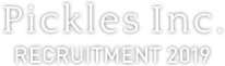 Pickles Inc. RECRUITMENT 2019