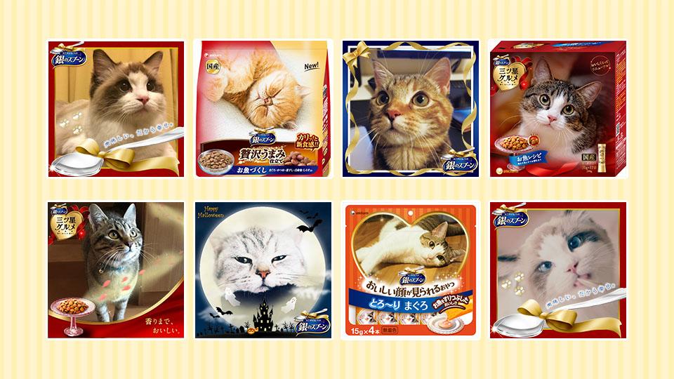 """""""愛猫のパッケージが作れるジェネレーター。"""" 銀のスプーン おいしい♥幸せ フォトコンテスト"""